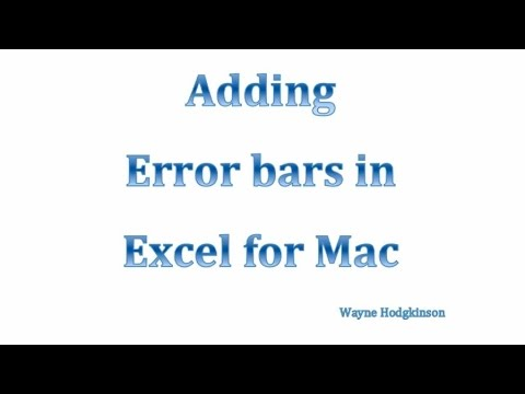 Error bars for MS Excel for Mac 2011