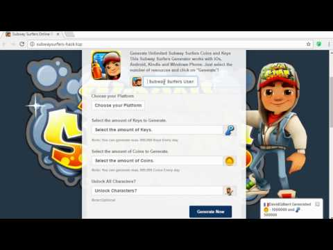 Subway Surfers Hack 2017 - Get Unlimited Coins and Keys (100% working)