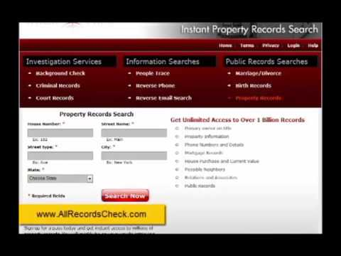 Online Property Records Search