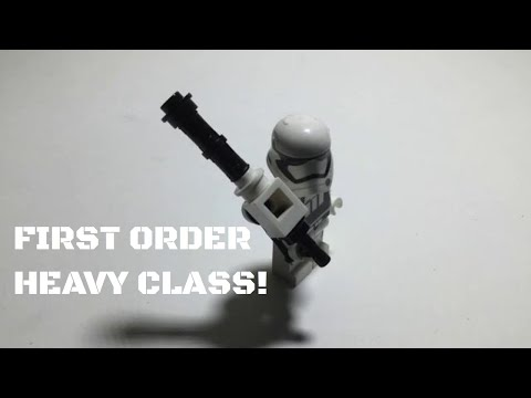 How To Make A Lego Star Wars Battlefront 2 First Order Heavy Trooper!