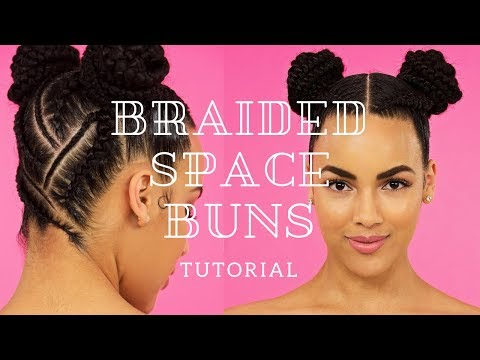 Braided Space Buns Tutorial | Protective Hairstyle