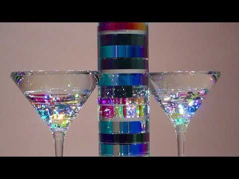 Bella Vodka and BellaTini Set - Glass Sculpture by Jack Storms