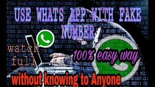 Download How to use fake whats app | By using fake number | Tips and tricks Video