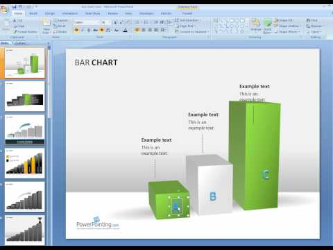 How to change the height, width and depth in Bar Chart in PowerPoint