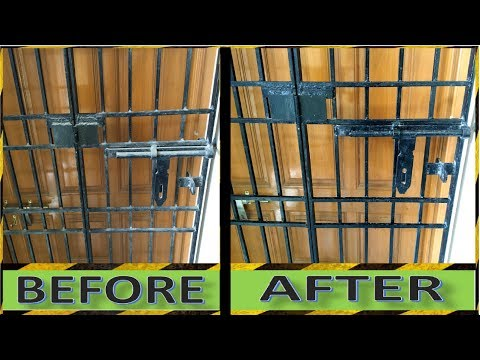 How to Clean Windows Grills || How to Clean Door Grills || Crazy Indian Hacker