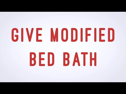 Give Modified Bed Bath - CNA skill video - AAMT