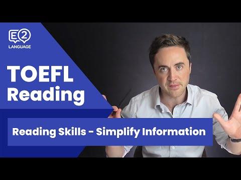 TOEFL Reading Skill 9: Simplify Information with Jay!
