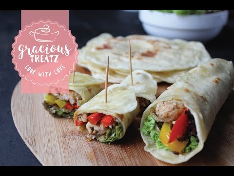 Easy Tortilla Chicken Wrap Recipe