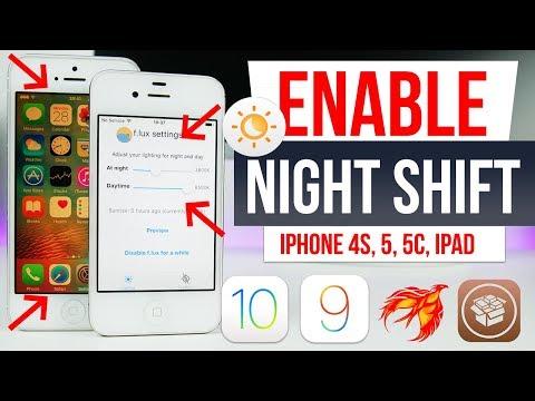 Enable Night Shift Mode 32Bit iPhone 4s, 5, 5c, iPad 2, 3, 4