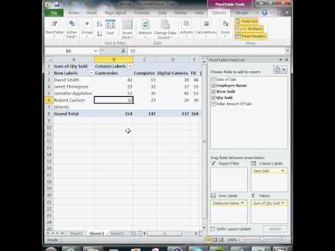 Excel Tutorial 15 of 25 - How To Create A Pivot Table