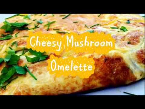 Mushroom Omelette with cheese - 5 Mins Recipe