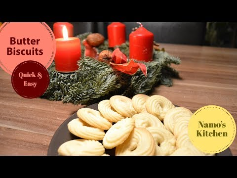 Cookies Recipe / Quick And Easy Butter Biscuits Recipe / Homemade Tea Time Cookies/ Biscuits Recipes