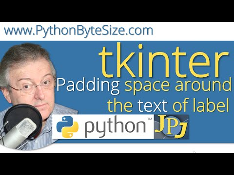 How to pad space around the text of Python tkinter label