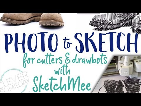 How to Sketch a Photo with a Cricut