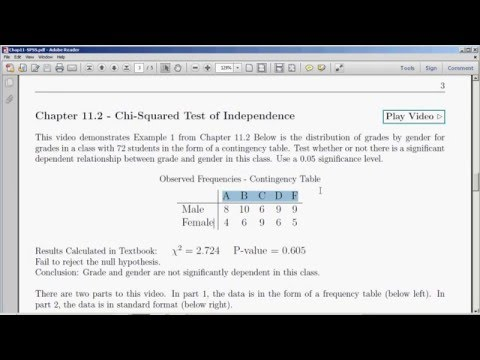 Chi-Squared Test of Independence with SPSS