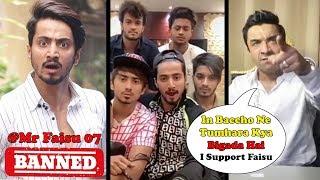 Mr Faisu Banned From #Tiktok - Ajaz Khan's ANGRY Reaction   Tiktok Users Support Mr Faisu