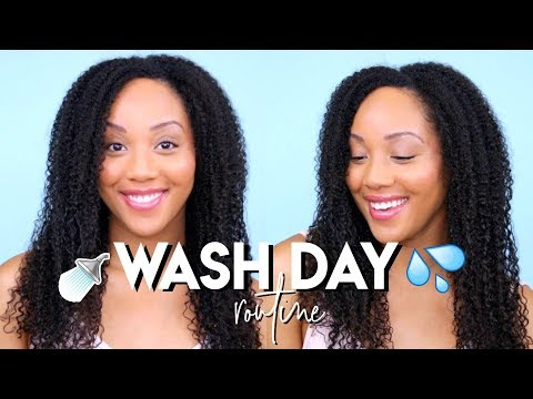 SUMMER WASH DAY ROUTINE Natural Hair   START TO FINISH ➟ Moisturize Dry Hair ☀️💦