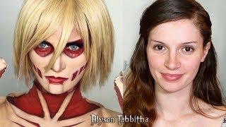 Female Titan (attack On Titan) Makeup Tranformation - Cosplay Tutorial