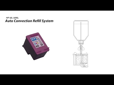 How to Refill HP 60 60XL Color Ink Cartridge - Auto Convection Refill