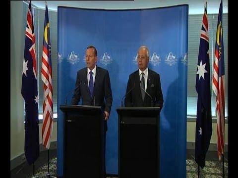 Day 27, Press conference on MH370 in Perth, Australia