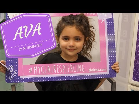 AVA GET'S HER EAR'S PIERCED FOR A SECOND TIME!!