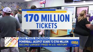 How did Powerball jackpot grow to $700M?