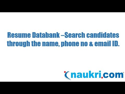 How to search a candidate through the name, phone number & email ID in Naukri's database?