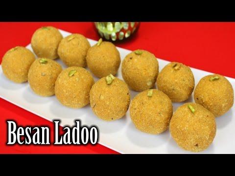 Besan Ladoo Recipe   Perfect Besan Laddu Recipe   Diwali Sweets Recipe   How to Make Besan Ladoo