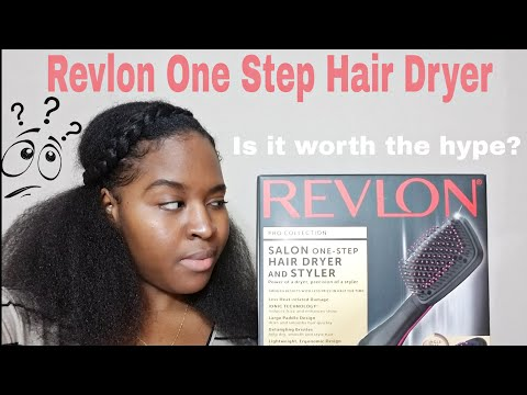 Revlon One- Step Hair Dryer and Styler Review & Demo