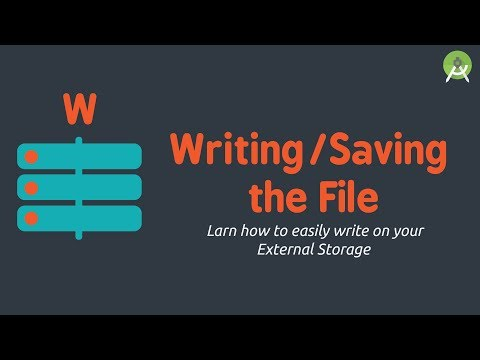 Write/Save File to External Storage | Android Studio