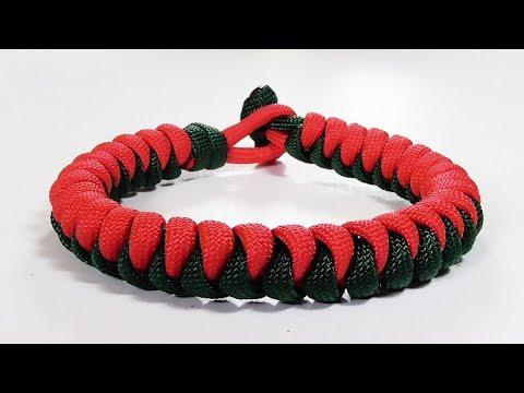 Paracord Bracelet: Two Color Snake Knot Bracelet Design
