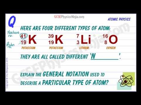 Different Types of Atoms - Nuclear Physics GCSE