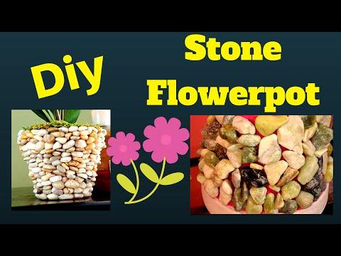 DIY| STONE FLOWER POT