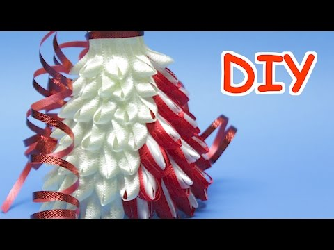 DIY Dress Out of Plastic Bottle Cup and Ribbon - Best Out of Waste Recycling Ideas  and Crafts
