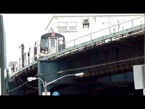 R160 Q train above Coney Island Avenue / Brighton Beach Avenue