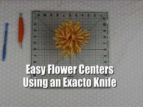Making Easy Flower Centers without a Cutting Machine | Exacto Knife