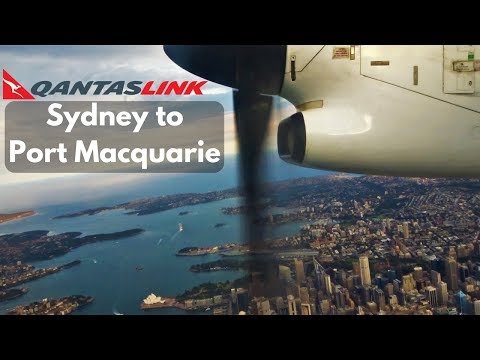 FULL FLIGHT: QantasLink Dash 8 Q300 | Sydney to Port Macquarie
