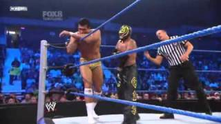 Rey Mysterio vs Alberto Del Rio !First Time Ever! Smackdown 8/10/10 HQ