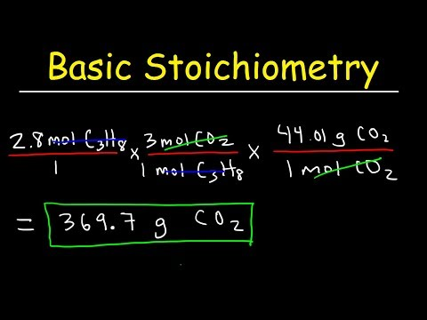 Stoichiometry Basic Introduction, Mole to Mole, Grams to Grams, Mole Ratio Practice Problems