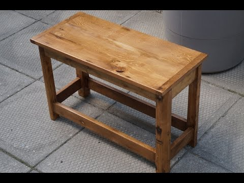 Small table made from reclaimed wood