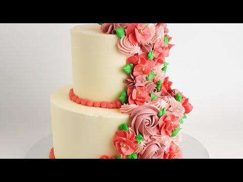Easy Floral Cake- Rosie's Dessert Spot