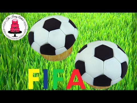 FIFA World Cup, Easy Soccer Ball Cupcake - How To With The Icing Artist