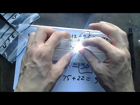 How to calculate LED's Resistor @5V and 12V