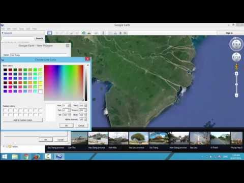 How to create KML file with Google Earth