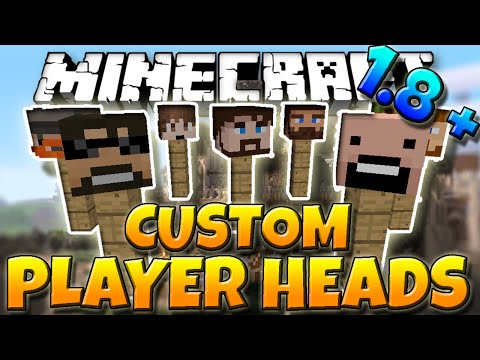 Minecraft 1.8.1 Tutorial | How to get Custom Player Heads In Minecraft 1.8.1 (No Mods)