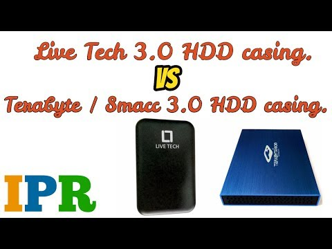 USB 3.0 Enclosure Case comparison ft. Live Tech Vs Terabyte / Smacc