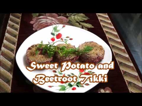 Sweet Potato and Beetroot Tikki
