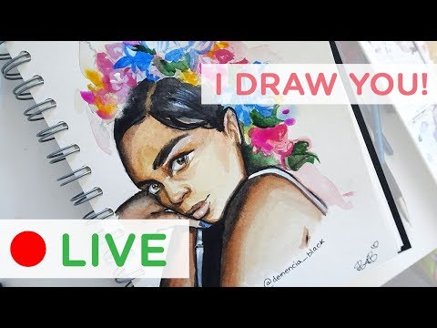 🔴 LIVE - Drawing my Subscribers! Part 1