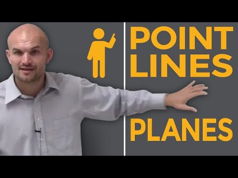 What is a point line and plane