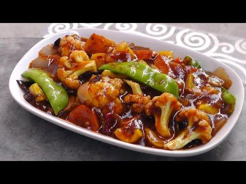 Chinese Vegetables in Szechuan Sauce - Vegan Vegetarian Recipe